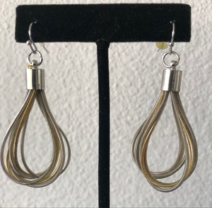 Treska Earrings - Two tone