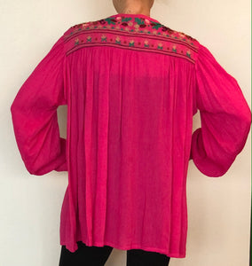 ANU - Embroidered shirt - pink