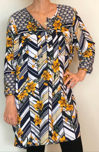 Olive Hill - Top/Tunic - multicolor/navy - print