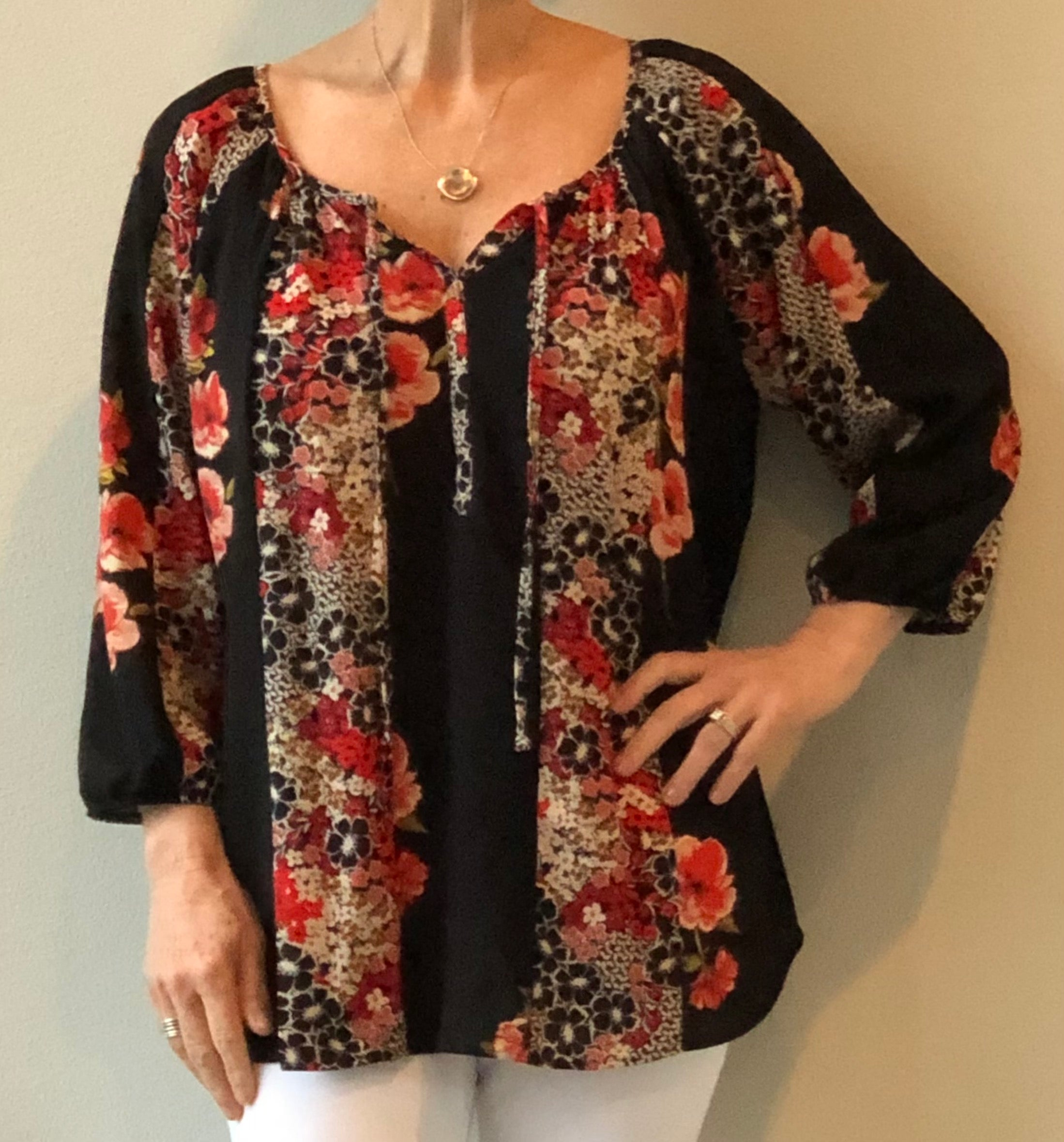 Olive Hill - Top - floral print