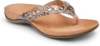 Vionic - Lucia - snake pattern with rhinestone accents - Camelia
