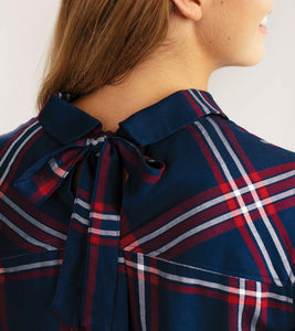Hatley - Mia Button down shirt - navy plaid