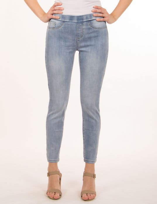 Charlie B - light blue jeans with bow detail at ankle