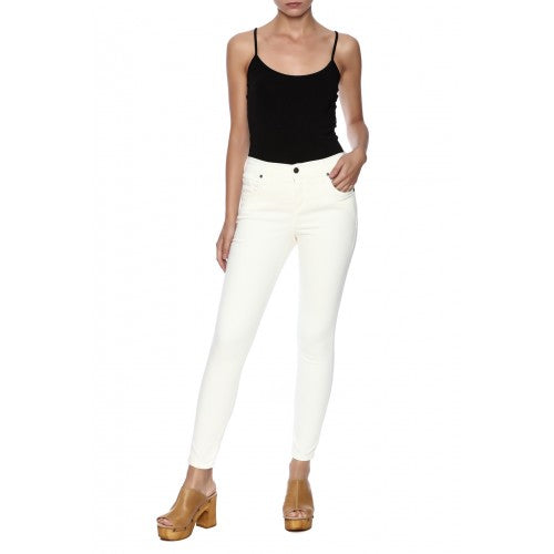 Karen Kane Crop Jeans - off-white