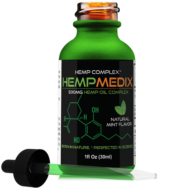 Hemp Medix Black Label 500mg - 1 Oz - cbdmedix.com