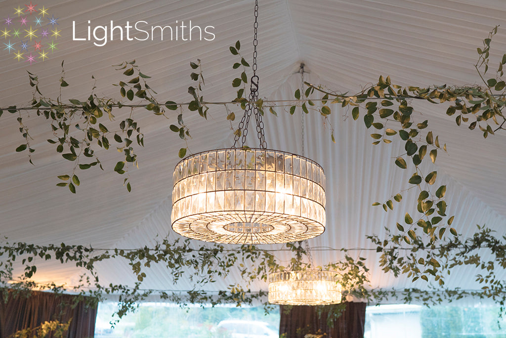 DeLille Cellars Events, DeLille Cellars Lighting, Wireless Chandeliers, Wedding Lighting, Event Lighting, LightSmiths Seattle