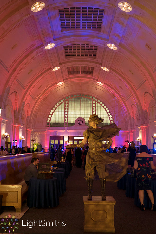 Great Hall at Union Station, Event Lighting, LightSmiths Seattle, Event Sound