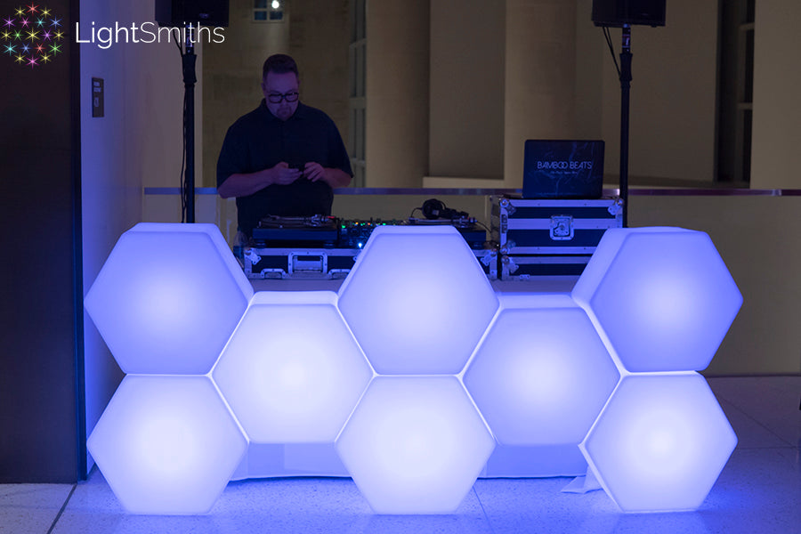 LumiShapes LED Furniture, LightSmiths, Seattle Event Lighting, Wireless Lighting