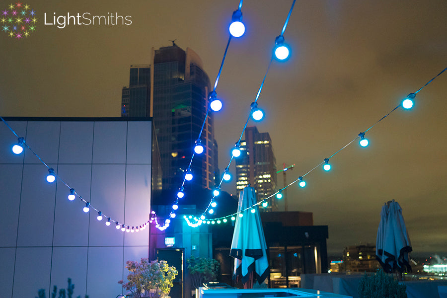 Thompson Hotel Seattle Lighting, The Nest Lighting, Event Lighting, Wedding Lighting