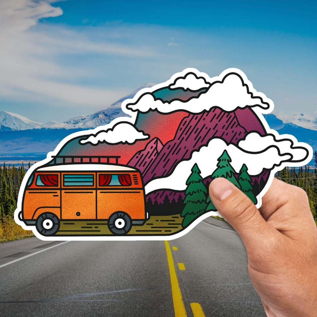 Mountain Van Sticker