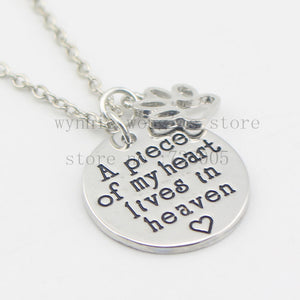 Meow Meow CastlePet Paw Stamped Pendant NecklaceNecklace - Meow Meow Castle