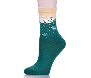 Meow Meow CastleMulticolor Cute Cat Cotton Socks 5 pairs/lotAccessory - Meow Meow Castle