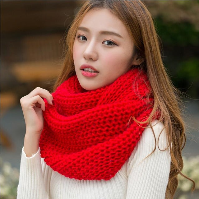 Unisex Winter Knitted Collar Neck Scarf