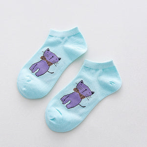 Meow Meow CastleCartoon Animal Pattern Lovely SocksAccessory - Meow Meow Castle
