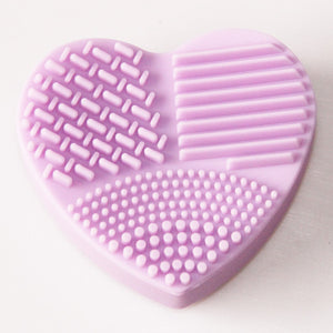 Heart Shape Clean Make up Brushes
