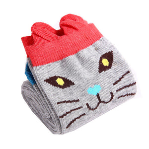 Meow Meow CastleKnee High Long Animal Print Girl SocksAccessory - Meow Meow Castle