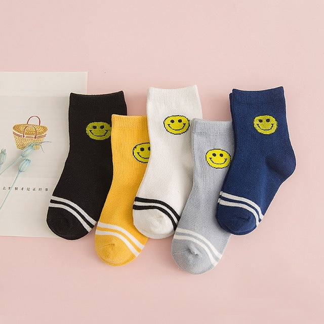 Meow Meow CastleCotton Kids Socks Set With 5 PairsBaby - Meow Meow Castle