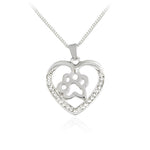 Meow Meow CastleDog Paw Claw Heart Shaped Pendant NecklaceNecklace - Meow Meow Castle