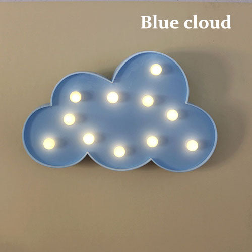 Meow Meow CastleLovely 3D Cloud Star Moon Night LED LampGadget - Meow Meow Castle