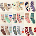 Autumn winter cute cartoon series cotton socks
