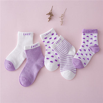 Meow Meow CastleCandy Color Socks Set With 5 PairsBaby - Meow Meow Castle
