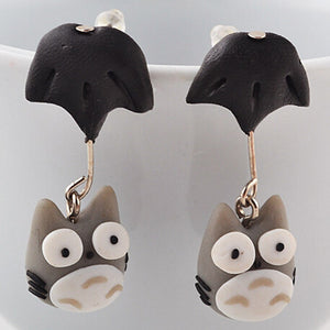Meow Meow CastleCartoon Totoro Stud EarringsEarrings - Meow Meow Castle
