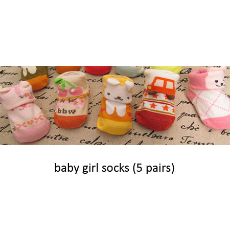 Meow Meow CastleNewborn Christmas Baby Socks With 5 PairsBaby - Meow Meow Castle