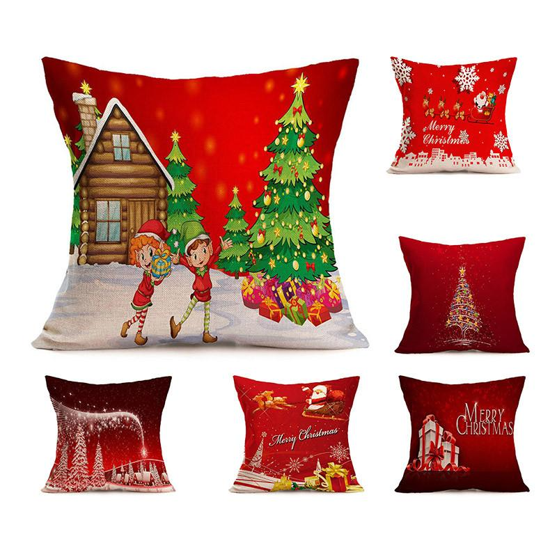 Hot Christmas Decorations For Home Pillowcase