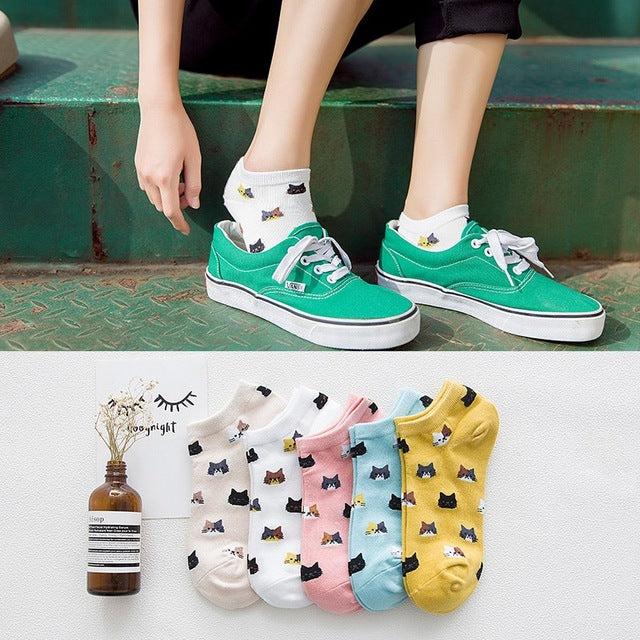 Meow Meow CastleCute Cat Striped Women SocksAccessory - Meow Meow Castle
