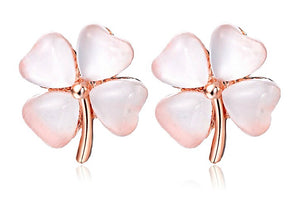 4-Leaf Clover Stud Earrings