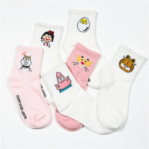 Meow Meow CastleSweet Cartoon Cotton Women SocksAccessory - Meow Meow Castle