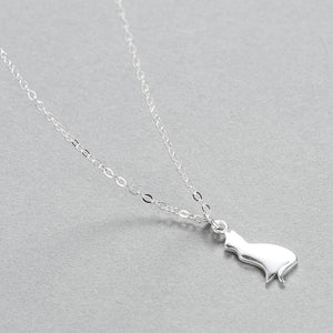 925 Sterling Silver Cat Pendant Necklaces