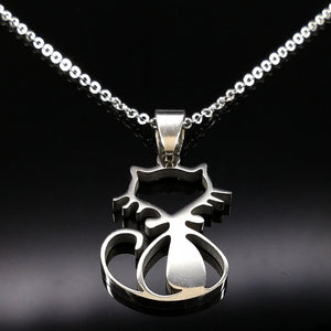 Meow Meow CastleStainless Steel Cat Choker NecklaceNecklace - Meow Meow Castle