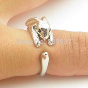 meowmeow castleAdjustable Vintage Brass Rabbit Bunny Knuckle RingRing - Meow Meow Castle