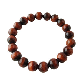 8mm Red Tiger's Eye Bracelet ~ Integrity,