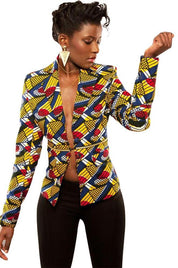 African Batik Fabric Contemporary Jacket