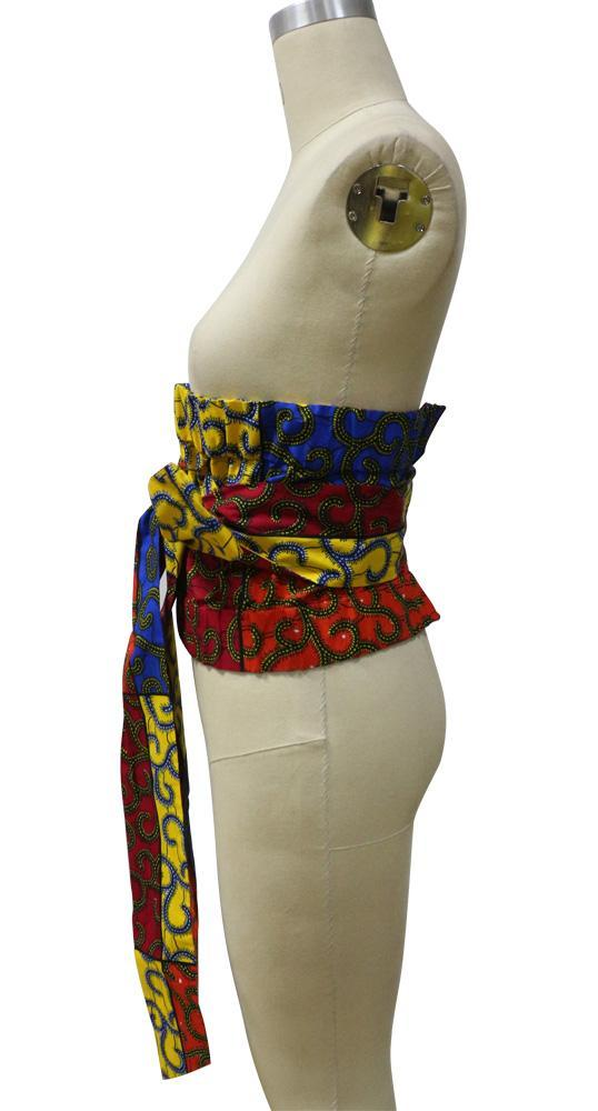 African Printed Batik Fabric Waistband Belt