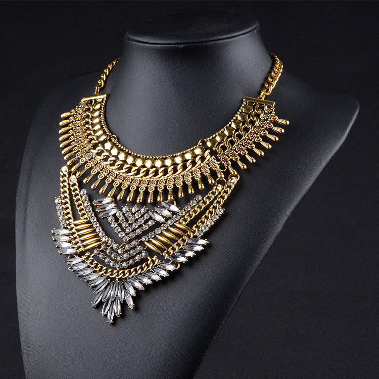 Exquisite Vintage-Inspired Maxi Collar Necklace