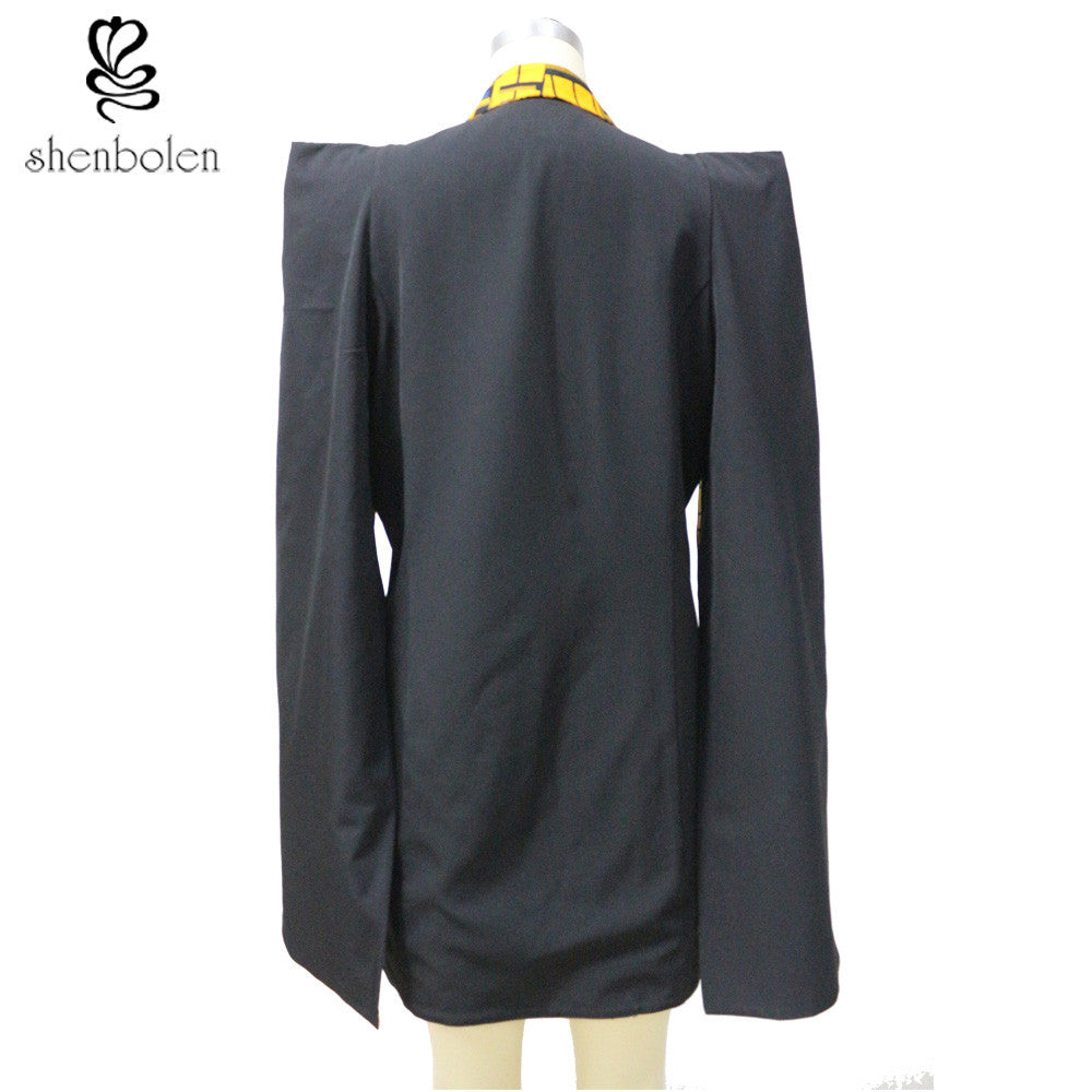 Single-Breasted Caped Blazer (Reversible)