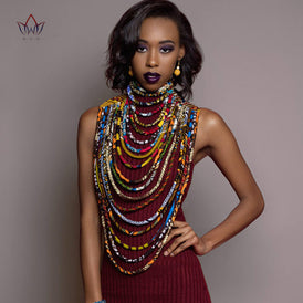 Beautiful Ankara Multi-Strand Handmade Necklace
