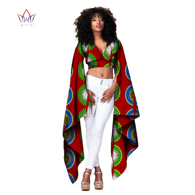 African Long Sleeve Batwing Top
