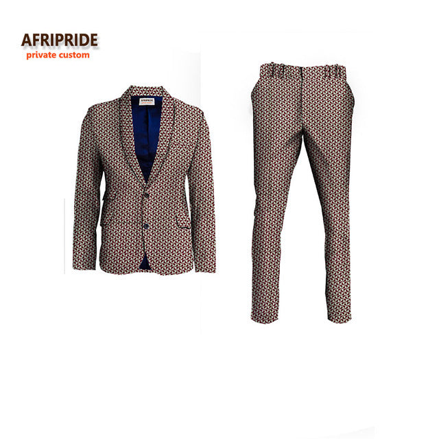 AFRIPRIDE African-Styling Slimfitted Suit Jacket & Pant Set