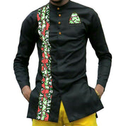 African Print Custom Long Sleeve Shirt