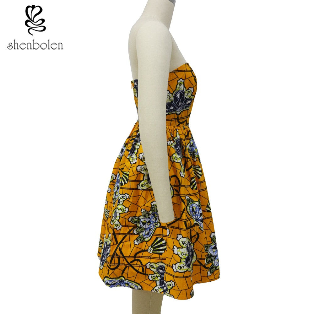 Batik Print Sweetheart Summer Dress