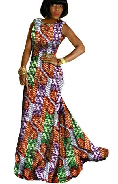 Batik Private Custom Trumpeted Maxi Dress