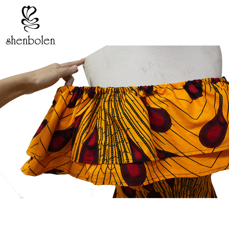 Batik Cloth African Print Dress