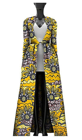 African Print Batik Trench-Styling Coat