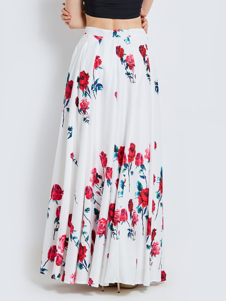 Beautiful & Fun Print Maxi Skirt