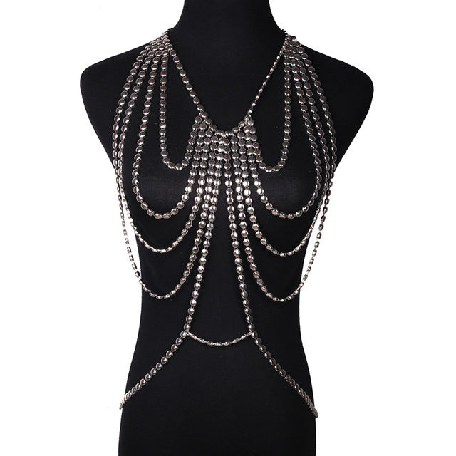 Contemporary Bohemian Metal Body Chain