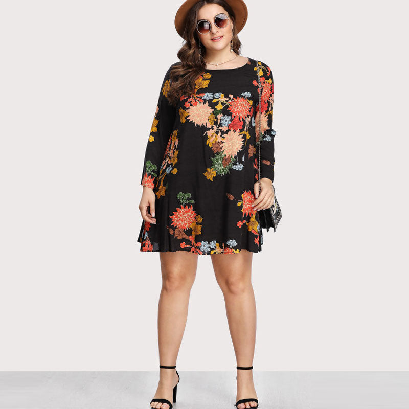 Sassy Swing Floral Tunic Dress